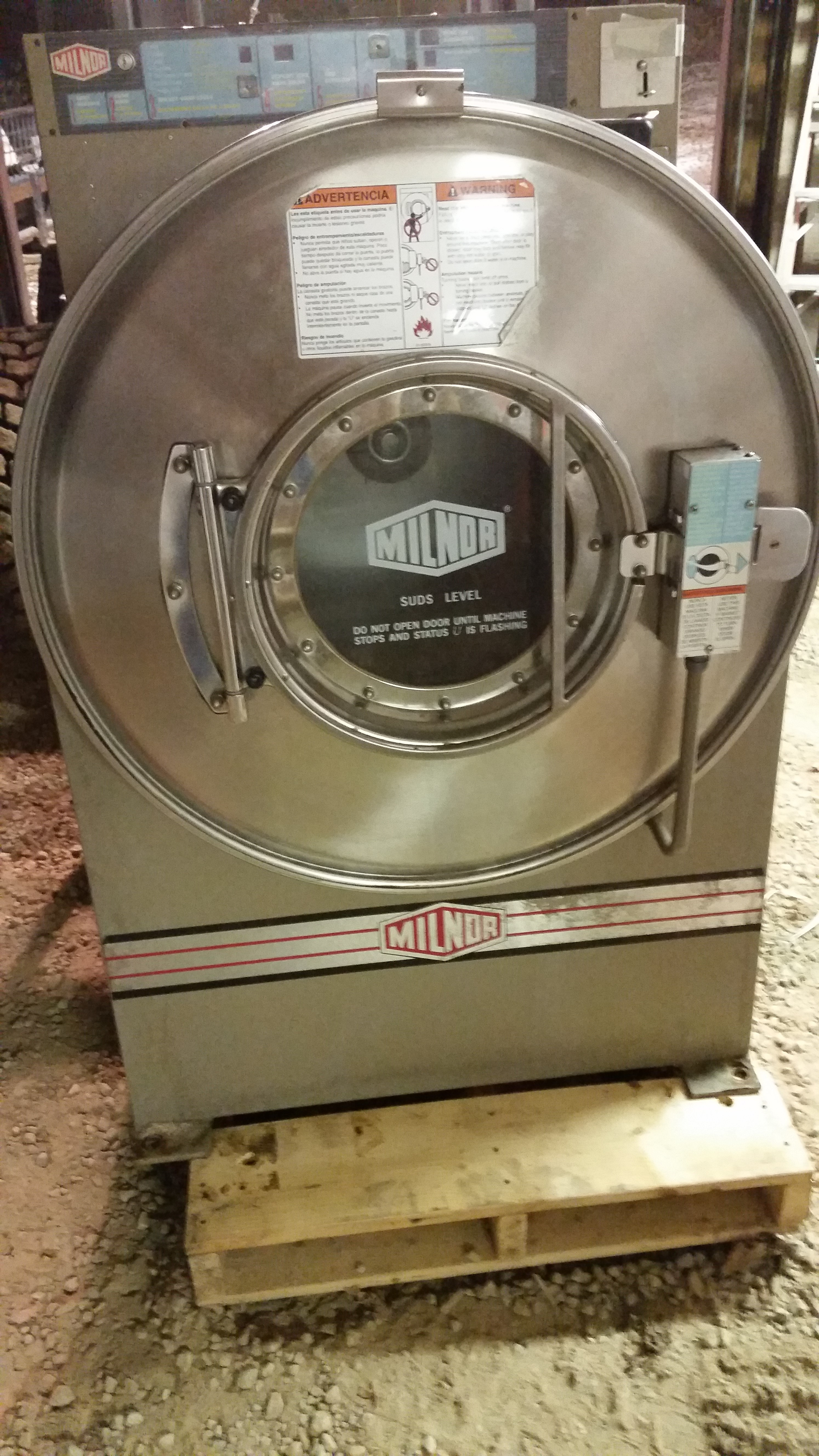 60LB Coin Op Milnor Washer