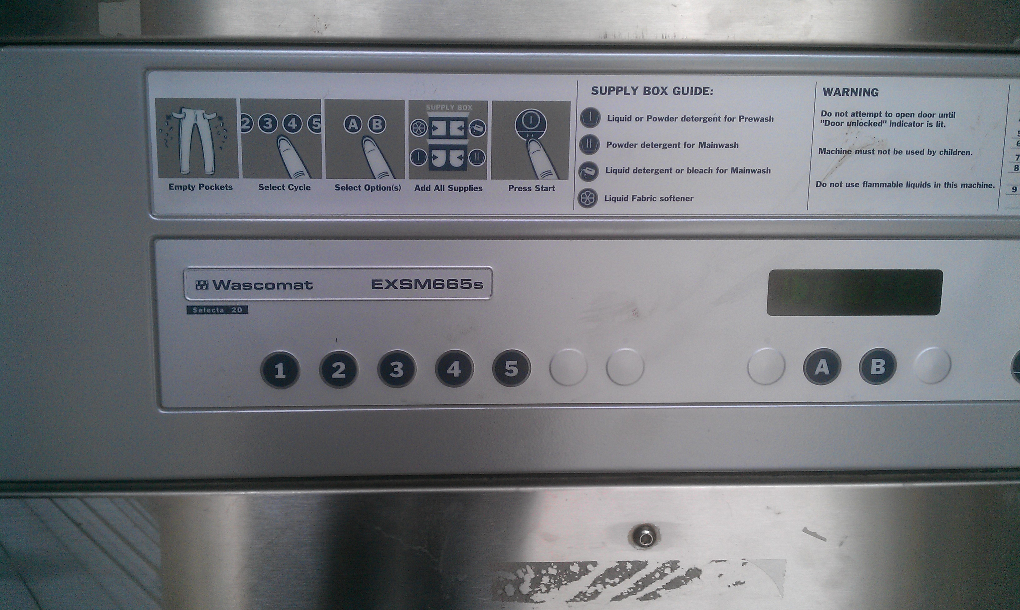 Commercial Washer: Wascomat Commercial Washer on